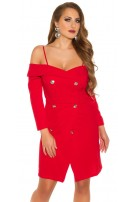 Sexy Longsleeve Minidress off shoulder Red