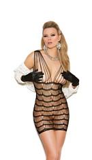 Striped Mini-Dress Black