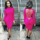 Backless Dress Pink
