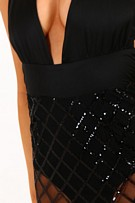 Elegant Dress with sequins Black