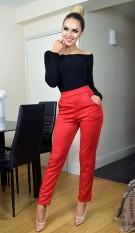 Tatianna dieren-print broek rood