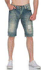 Capri-driekwarts-jeans blauw