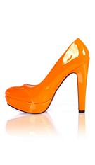 Lack Pumps Orange
