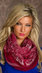 Scarf Dark red