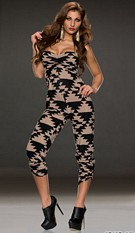 Jumpsuit Black / Beige