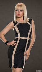 Sheath Dress Black / Creme
