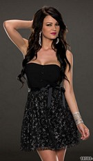 Bandeau Minidress Black / Silver