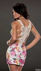 Mini-Dress White / Pink