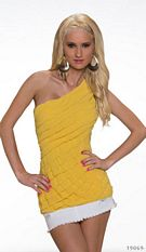 One-Shoulder-Long-Top Yellow
