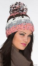 Knitted Hat Mixed / Rose
