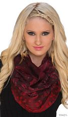 Scarf Mixed / Wine-red