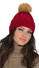 Knitted hat Red