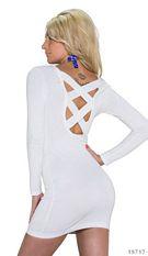 Long-Sleeved-Minidress White