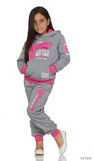 Joggingsuit Gray / Rose