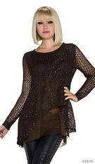 Knitted-Pullover Black Coffee