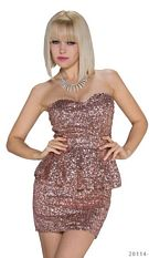Bandeau Minidress Tropical-peach
