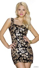Minidress Black / Beige