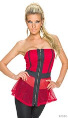 Strapless Top Red / Black