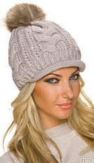 Knitted Hat Lightgray