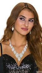 Earrings + Necklace Silver