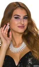 Collar + Earrings Silver
