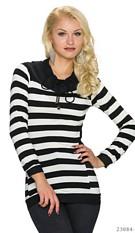 Sweatshirt Black / White