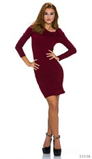 Minidress Wine-red