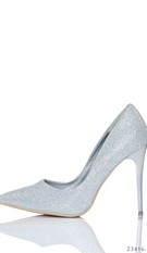 High Heels-Pumps Zilver