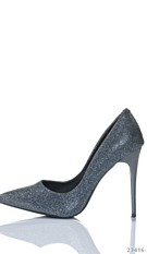 High Heels-Pumps Gray