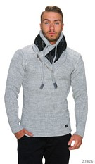 Gebreide-Pullover Lichtgrijs