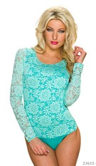 Body-Shirt Turquoise-Green
