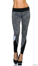 Joggingpants Gray / Black