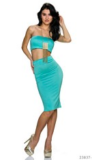 Top + Skirt Turquoise-Green