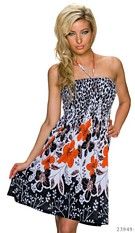 Halter-Mini-Dress Mixed / Orange