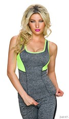 Tank-Top Gray / Yellow
