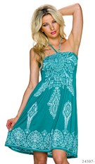 Halter-Mini-Dress Green