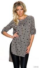 Long-Pullover Gray