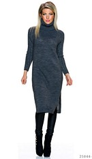 Knitted-Dress Dark-Gray