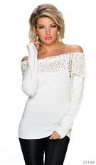 Fine-Knitted-Pullover White