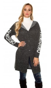 Trendy Hooded cardigan