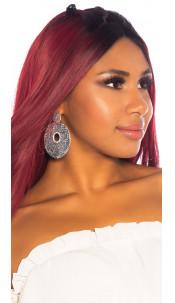 Sexy Big Stud Earrings Silver