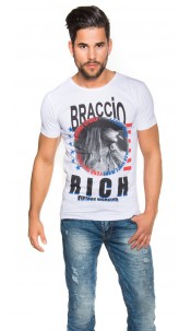 "Trendy Shirt with Print ""Braccio.Rich Vintage"" White"