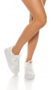 Trendy Plateau Sneaker White
