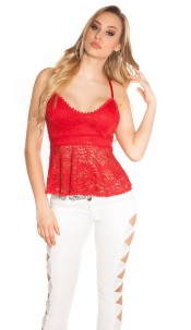 Sexy Koucla lace top Red