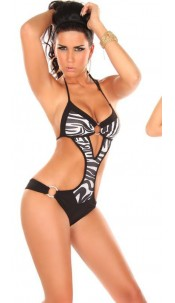 Sexy Monokini with Ringbuckle Blackzebra
