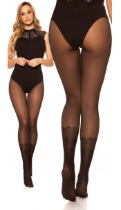 Sexy tights 2in1 look Black
