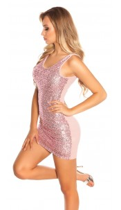 Sexy party dress with sequins Antiquepink