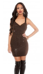 Party lurexdress with sequins Bronze