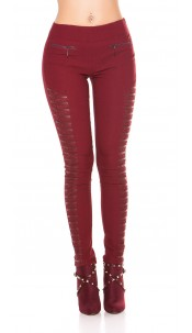 Sexy Treggings with lace Bordeaux