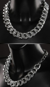 Trendy necklace Silver